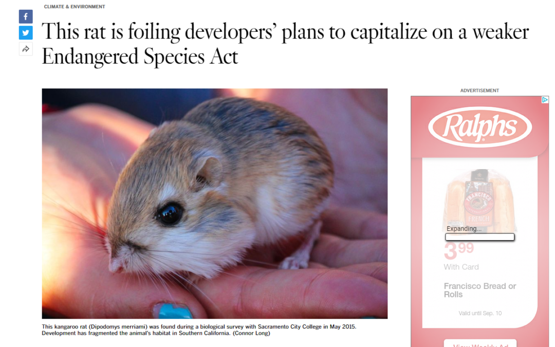 Partners in the News: Endangered Habitats League featured in Los Angeles Times