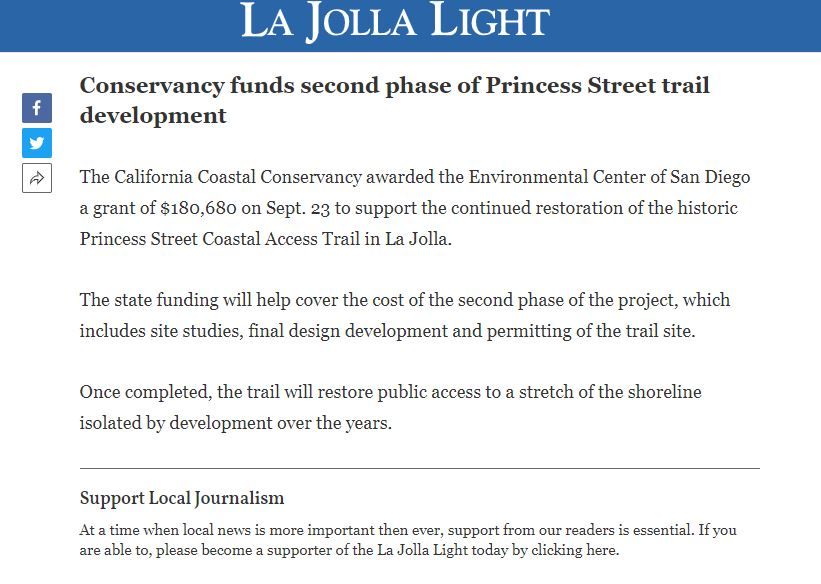 Conservancy Funds Second Phase of Princess Street Trail